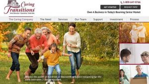 Caring Transitions Franchise Launch Website