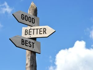 Good, Better, Best Directional Signs