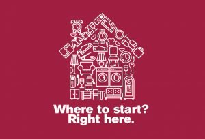"Caring Transitions House Icon- ""Where to start? Right here."""
