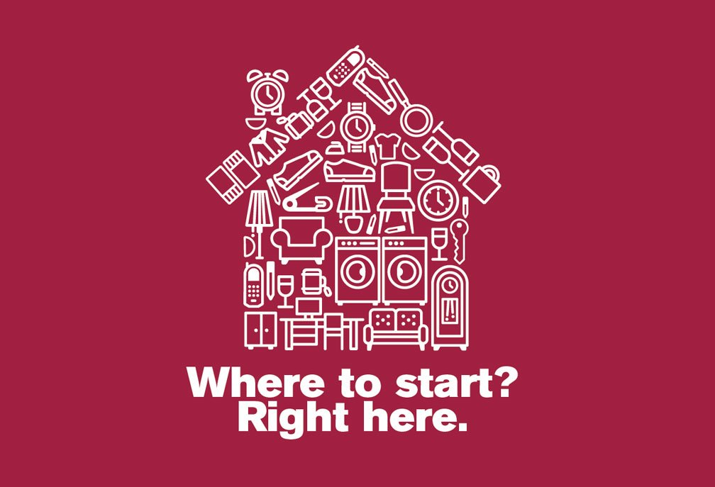 """Caring Transitions House Icon- """"Where to start? Right here."""""""