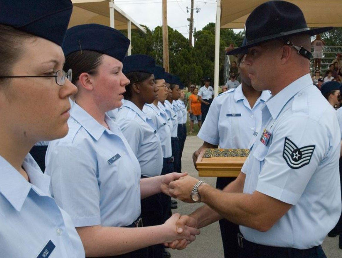 Military vet graduation ceremony
