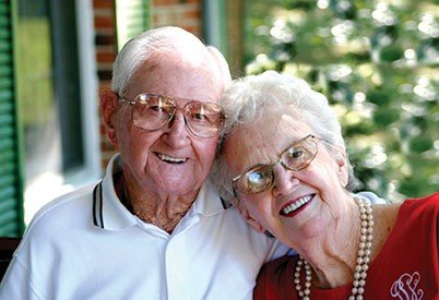 Caring transitions elderly couple