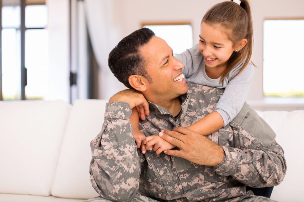 Military father and daughter