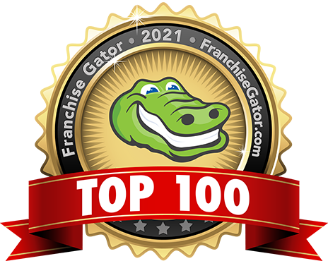 Franchise Gator Top 100 Franchises Logo